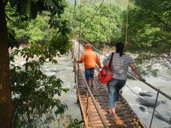 Jembatan Gantung menuju Penangkaran Rusa Cariu